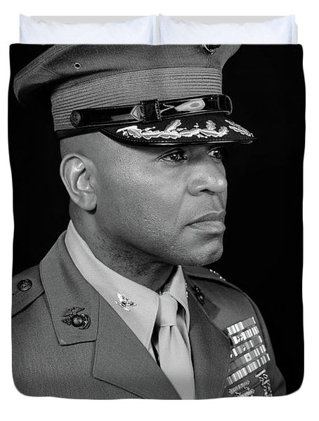 Duvet Cover featuring the photograph Colonel Trimble by Al Harden