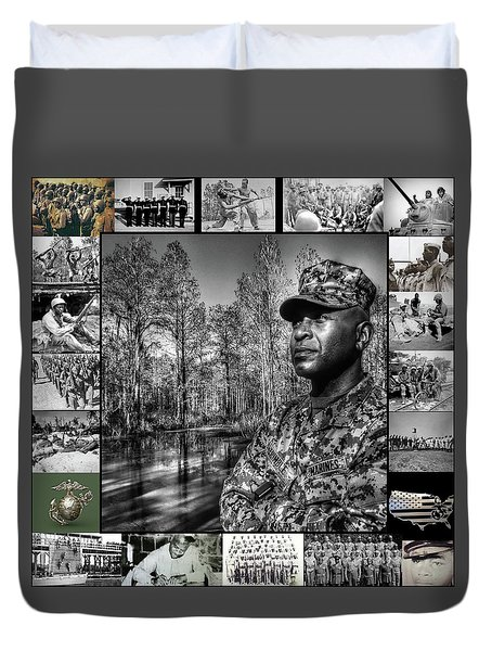 Colonel Trimble Collage Duvet Cover