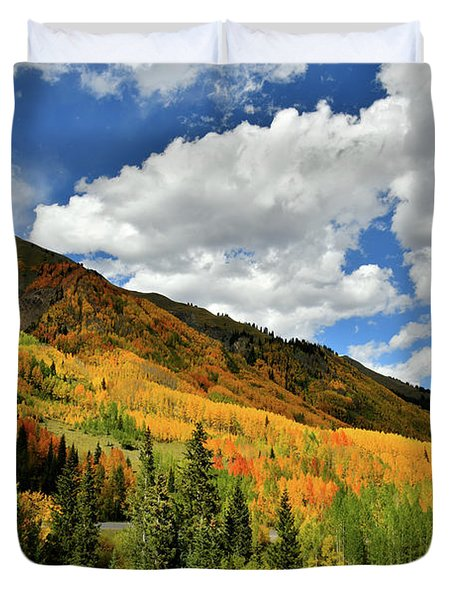 Color In The Spotlight At Red Mountain Pass Duvet Cover