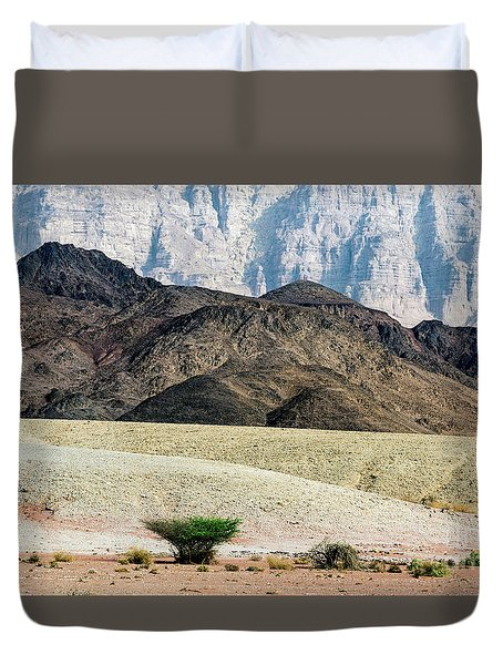 Color Layers In The Desert Duvet Cover