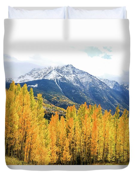 Colorado Aspens And Mountains 2 Duvet Cover