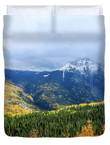 Colorado Aspens And Mountains 3 Duvet Cover