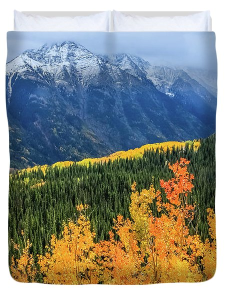 Colorado Aspens And Mountains 4 Duvet Cover