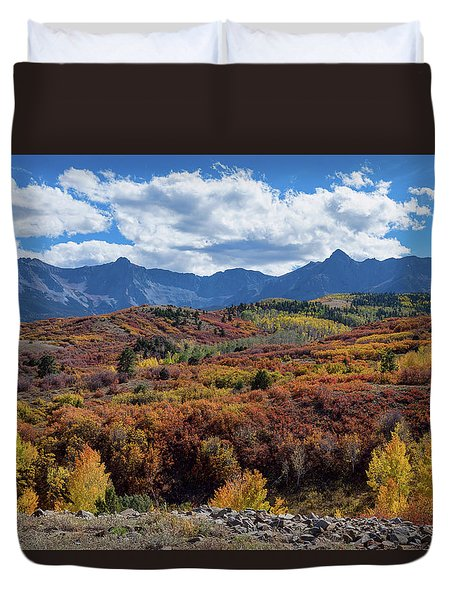Duvet Cover featuring the photograph Colorado Color Lalapalooza by James BO Insogna
