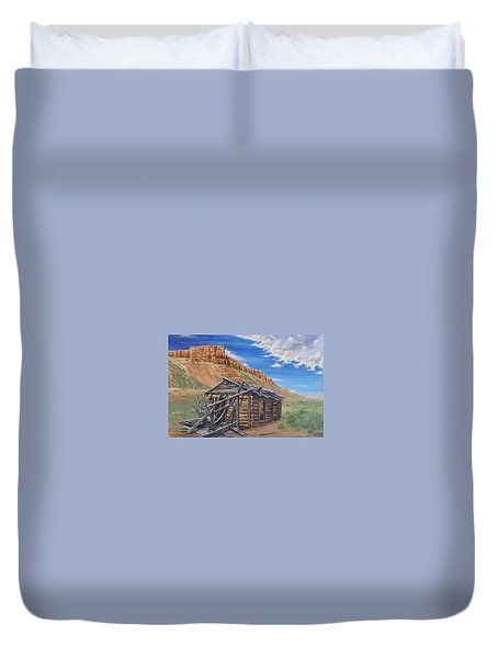 Colorado Prarie Cabin Duvet Cover