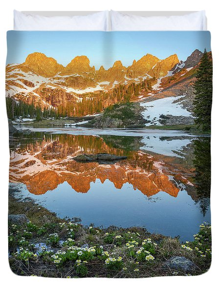 Colorado Reflection - Willow Lakes Duvet Cover