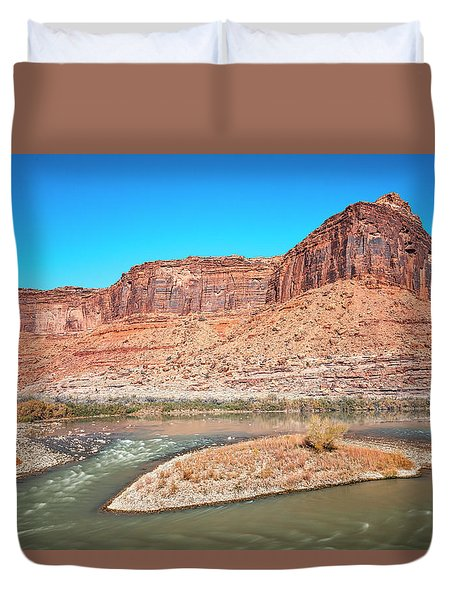 Duvet Cover featuring the photograph Colorado River At Salt Wash by Andy Crawford