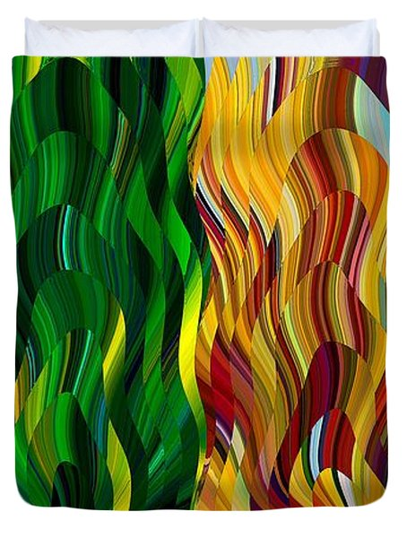 Colored Fire Duvet Cover