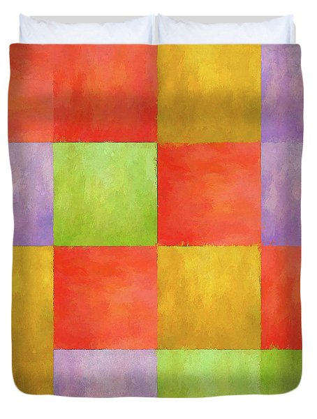 Colored Tiles Duvet Cover