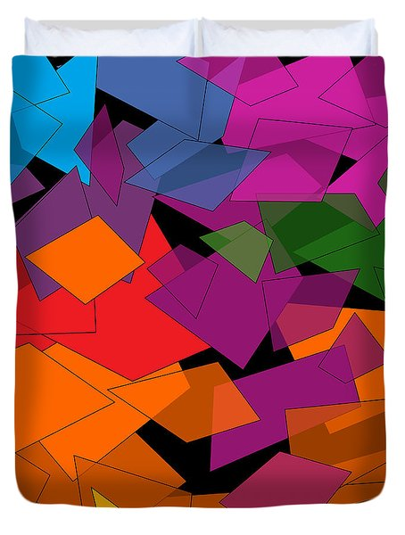Colorful Chaos Duvet Cover