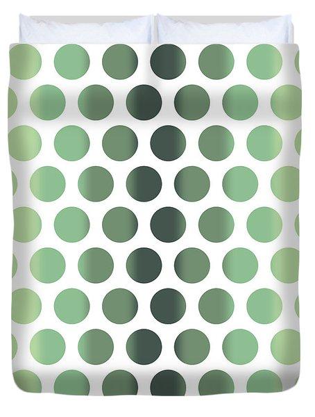 Colorful Dots Pattern - Polka Dots - Pattern Design 1 - Slate, Blue, Teal, Cream Duvet Cover
