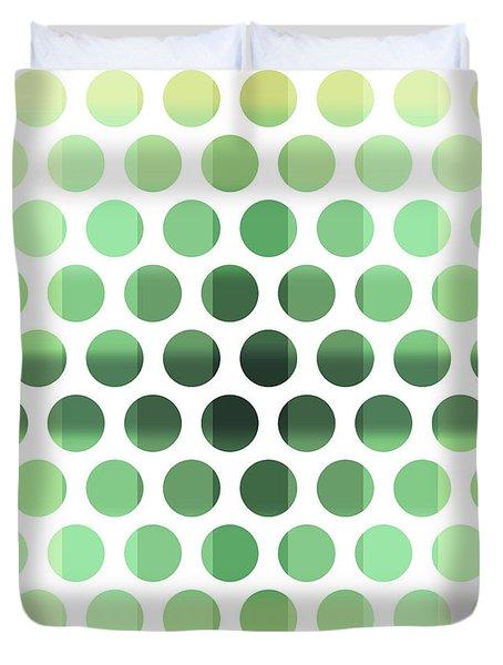 Colorful Dots Pattern - Polka Dots - Pattern Design 6 - Cream, Aqua, Teal, Olive, Green Duvet Cover