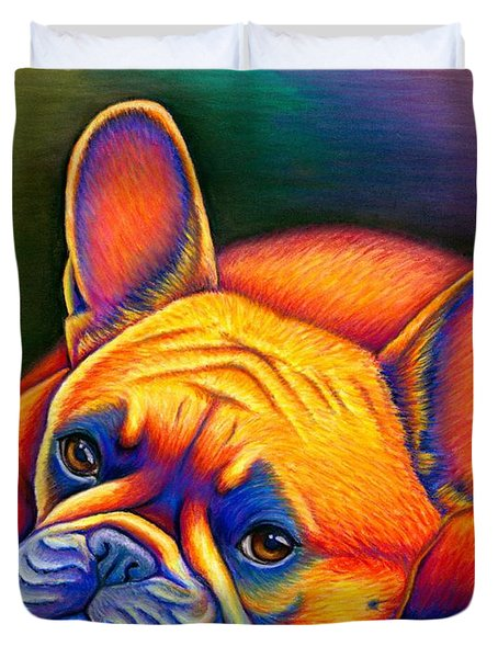 Daydreamer - Colorful French Bulldog Duvet Cover