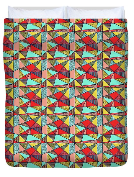 Colorful Geometric Abstract Pattern Duvet Cover