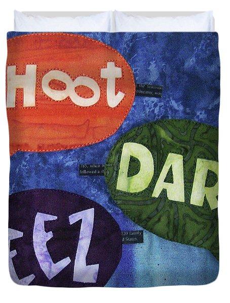 Colorful Language Duvet Cover