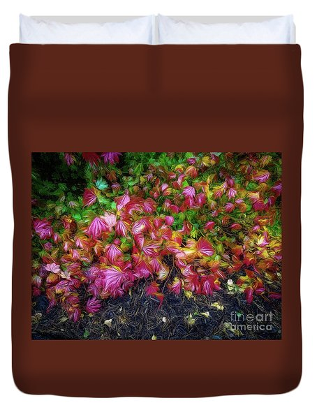 Colorful Leaves Duvet Cover