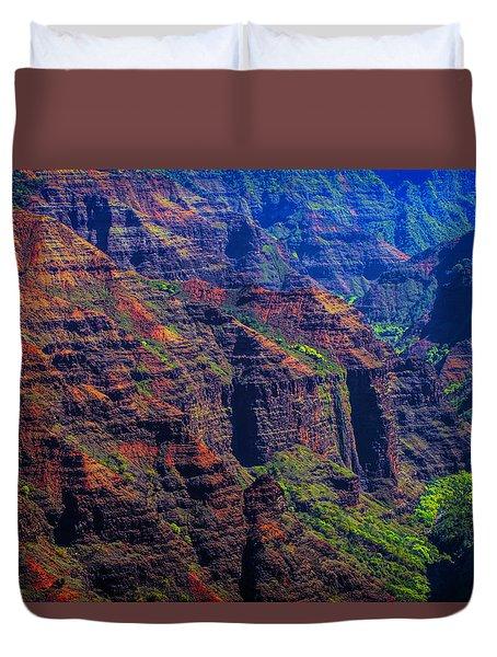 Colorful Mountains Of Kauai Duvet Cover