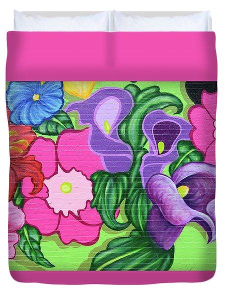 Colorful Mural Duvet Cover