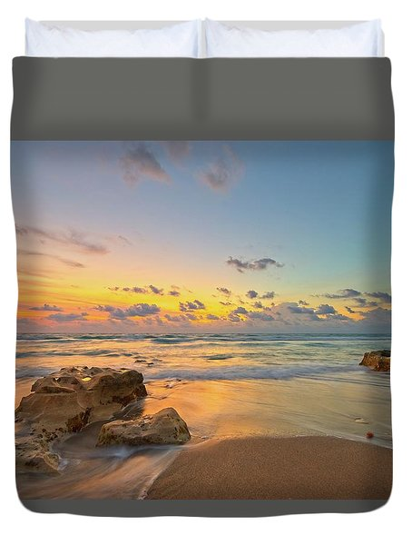 Colorful Seascape Duvet Cover