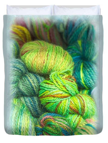 Colorful Skeins Of Yarn Duvet Cover