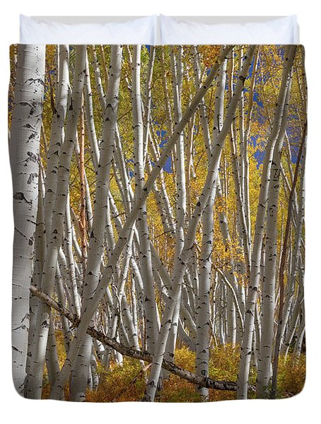 Colorful Stick Forest Duvet Cover