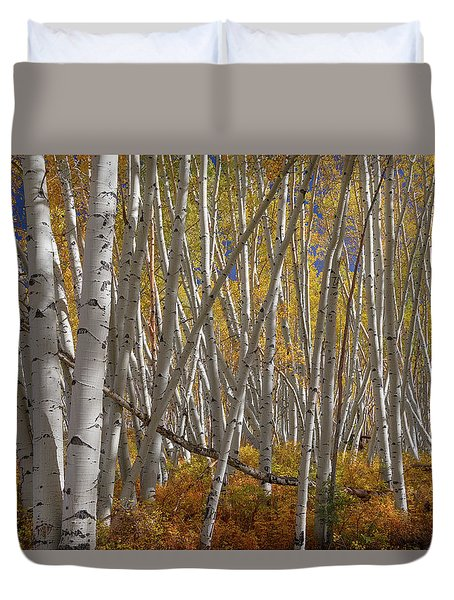Duvet Cover featuring the photograph Colorful Stick Forest by James BO Insogna