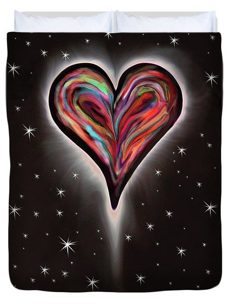 Colorful Total Eclipse Of The Heart 1 Duvet Cover