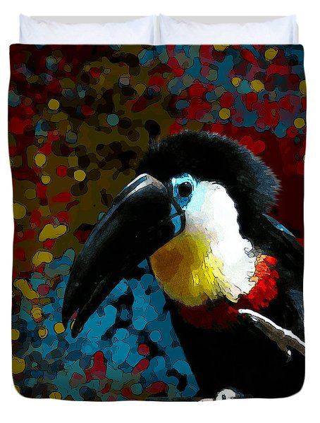 Colorful Toucan Duvet Cover