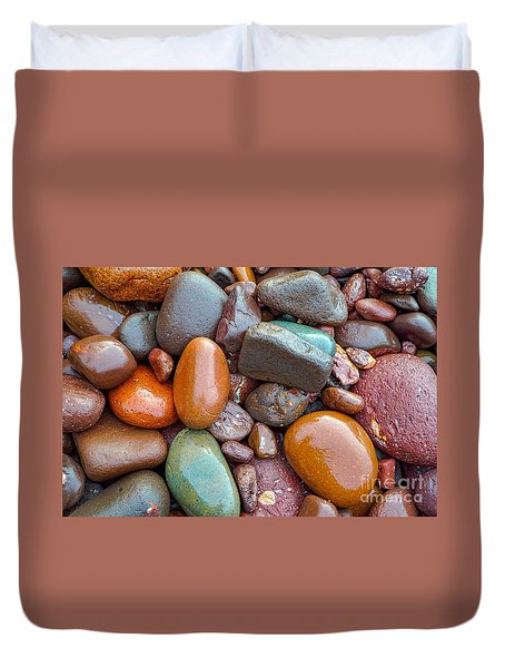 Colorful Wet Stones Duvet Cover