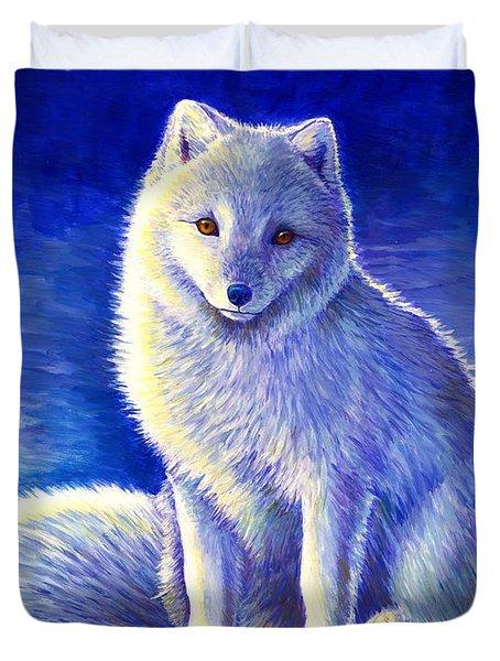 Peaceful Winter Arctic Fox Duvet Cover