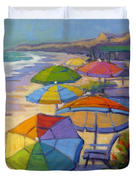 Colors Of Crystal Cove Duvet Cover