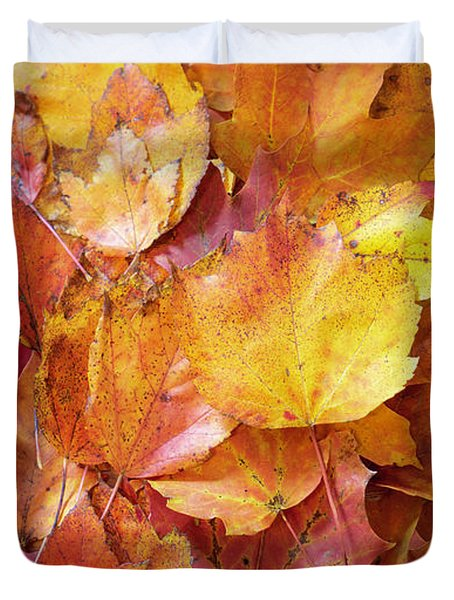 Colors Of Fall - Red To Yellow Duvet Cover
