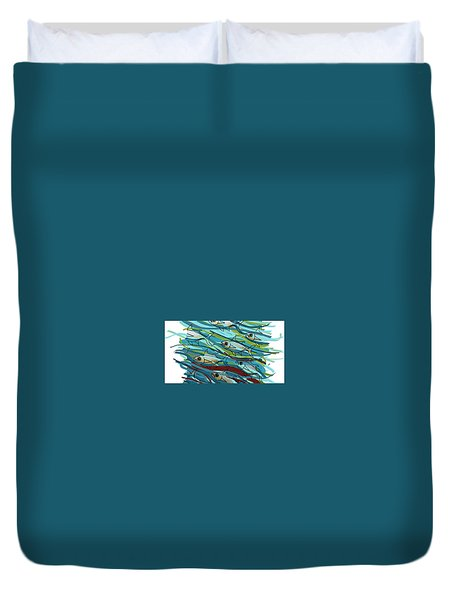 Coloured Water Fish - Digital Change 2 Duvet Cover