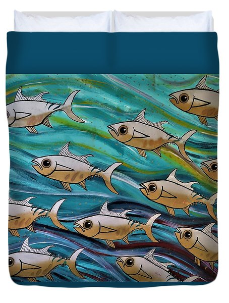 Coloured Water Fish Duvet Cover