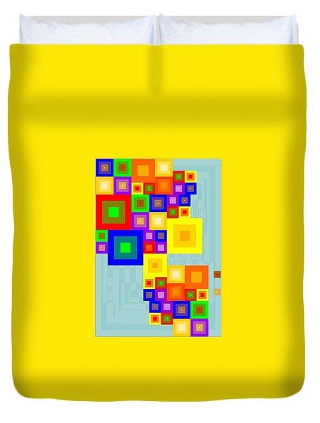 Colourful Cubism  Duvet Cover