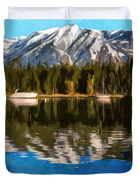 Colter Bay Reflections Wyoming Duvet Cover