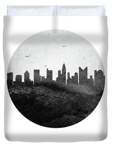 Columbus Skyline Usohco24 Duvet Cover