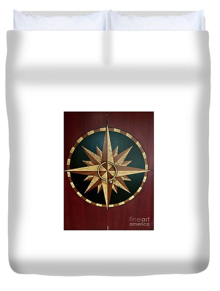 Compass Door Duvet Cover