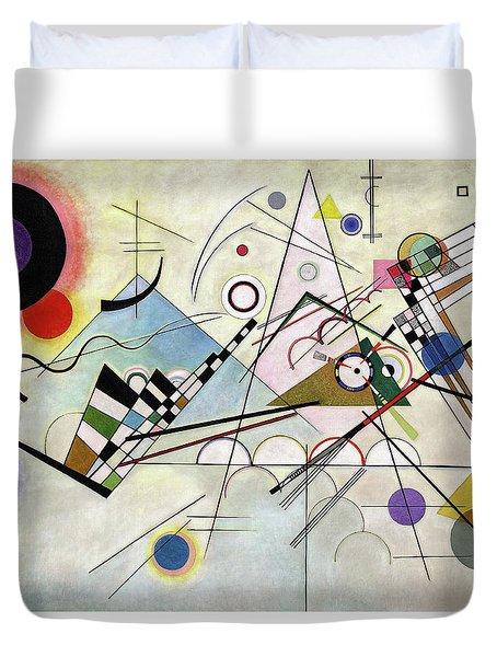 Composition 8 - Komposition 8 Duvet Cover