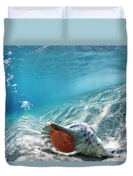 Conch Shell Bubbles Duvet Cover