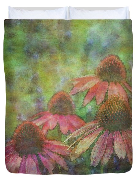 Coneflowers Among The Lavender 1667 Idp_2 Duvet Cover