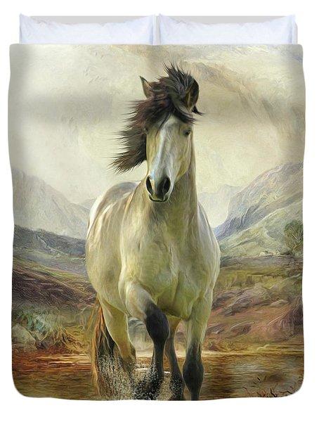 Connemara Pony Of The Moors Duvet Cover