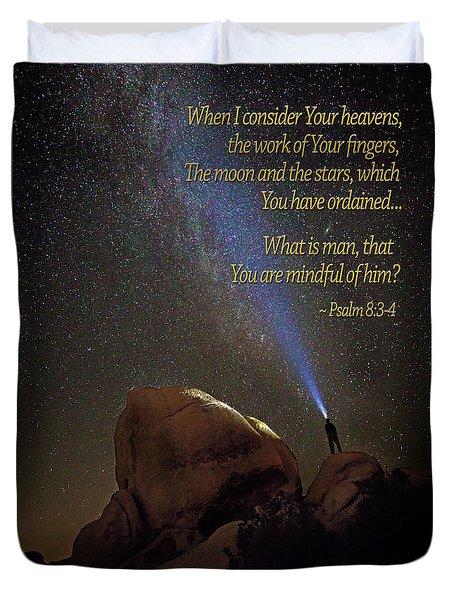 Consider The Heavens Duvet Cover