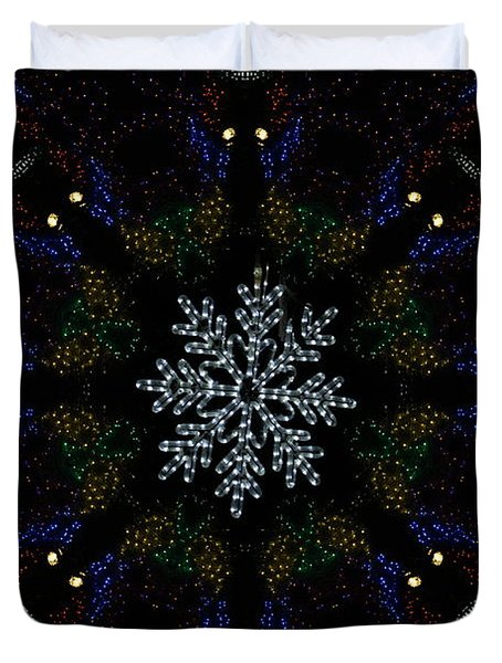 Continuous Christmas Lights Duvet Cover