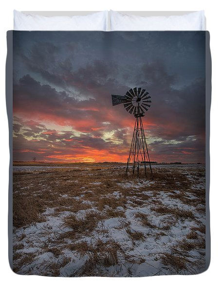 Duvet Cover featuring the photograph Cool Breeze  by Aaron J Groen