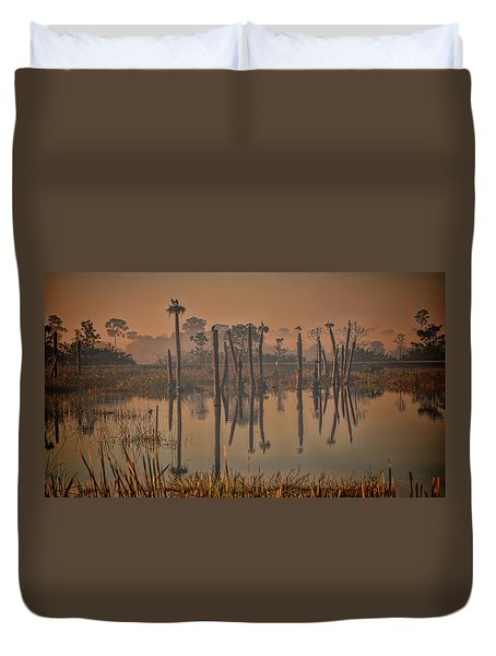 Cool Day At Viera Wetlands Duvet Cover