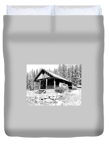 Coolidge Ghost Town Montana Duvet Cover