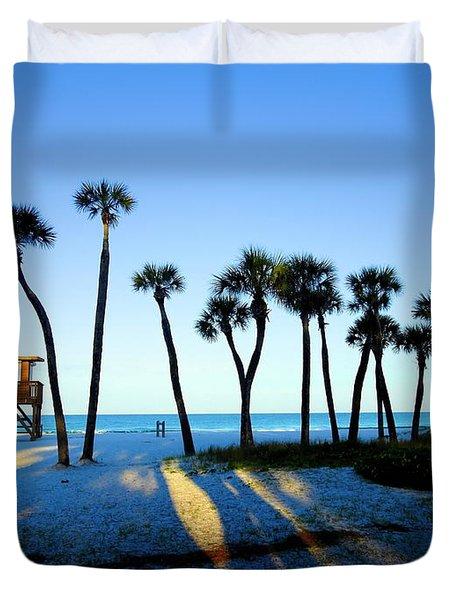 Coquina Palms Duvet Cover