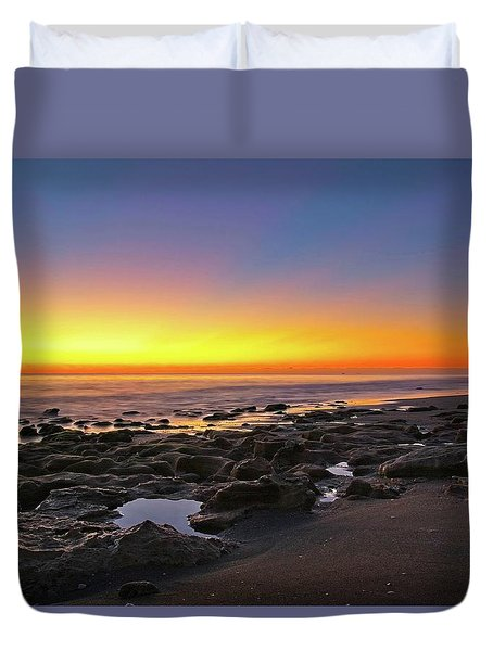 Coral Cove Nautical Twilight Duvet Cover