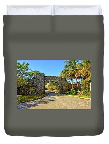 Coral Gables, Alhambra Entrance, South Miami, Florida Duvet Cover